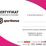 Sportbonus Certyfikat